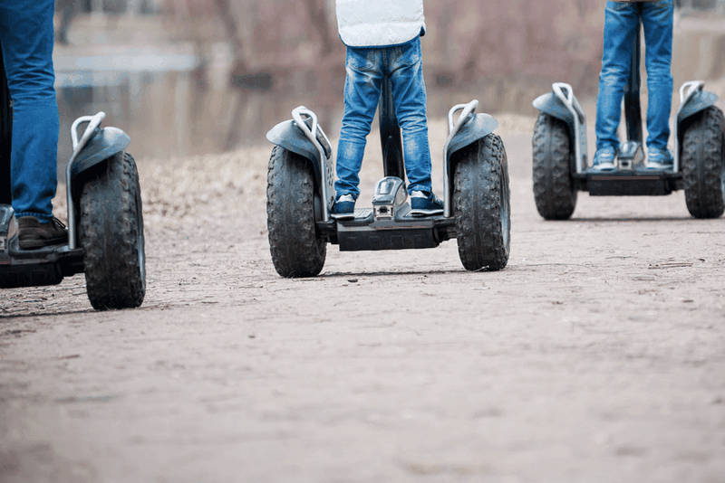 Jazda na off-road Segway